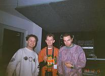 This was taken at the old Harthouse offices in Germany inside Oliver Lieb's studio. From left: Oliver Lieb, dj Hi-Shock and Pascal FEOS.