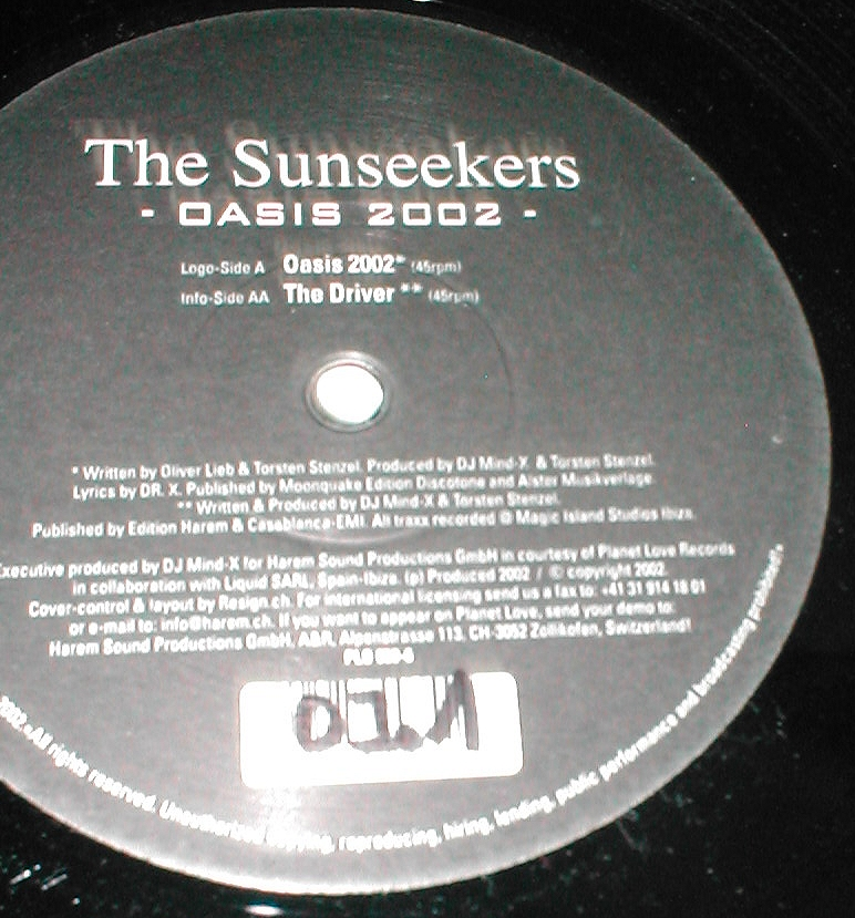 The Sunseekers - Oasis 2002