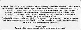 Promo Note JNKDG 09 CDR Promo